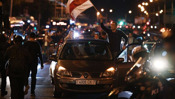 Protestní akce v Minsku - Sputnik Česká republika