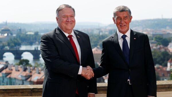 Mike Pompeo v Praze s premiérem Andrejem Babišem - Sputnik Česká republika