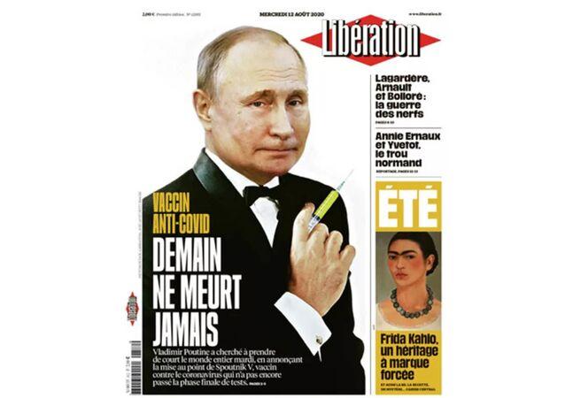 Obálka francouzského deníku Liberation