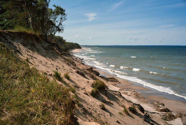 Písečné pobřeží v národním parku Kurská kosa v Kaliningradské oblasti. - Sputnik Česká republika