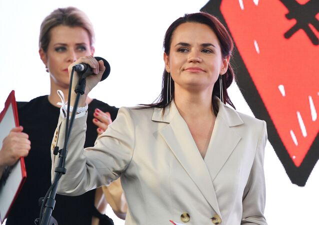 Kandidátka na funkci běloruského prezidenta Světlana Tichanovská