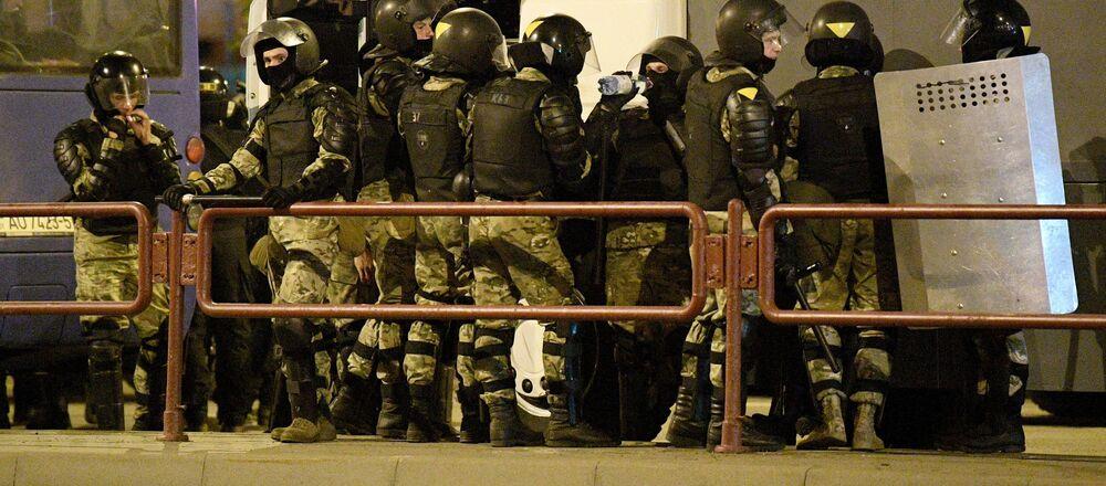 Bezpečnostní složky v Minsku