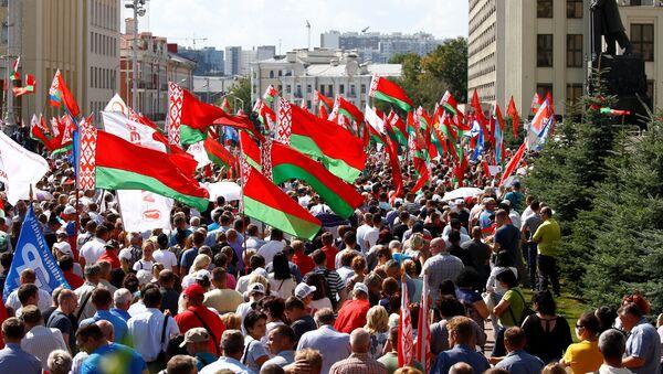 Shromáždění na podporu Lukašenka v Minsku - Sputnik Česká republika
