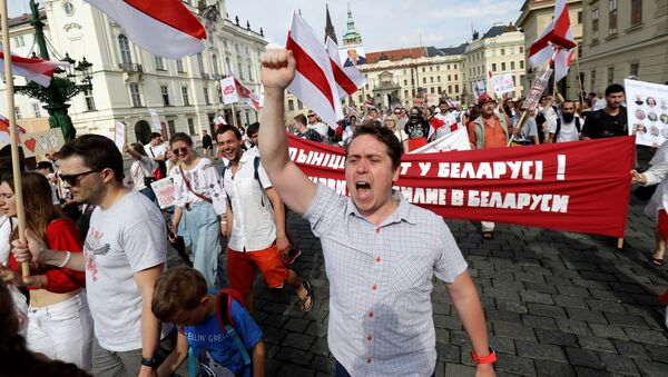 Protesty v Praze - Sputnik Česká republika