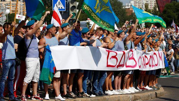 Výsadkáři protestují proti Lukašenkovi - Sputnik Česká republika