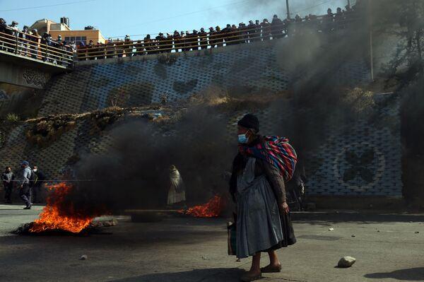 Protesty v El Alto, Bolívie. - Sputnik Česká republika