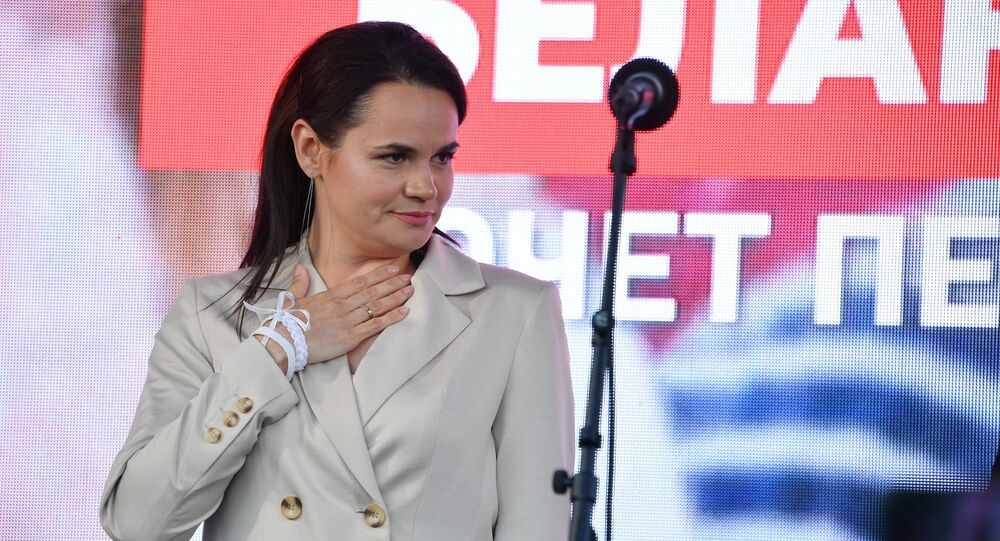 Běloruská politička Světlana Tichanovská