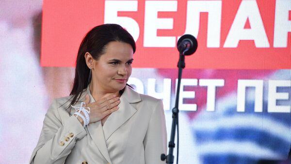 Běloruská politička Světlana Tichanovská - Sputnik Česká republika
