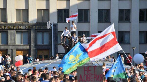 Protestní akce v Minsku 16. srpna - Sputnik Česká republika