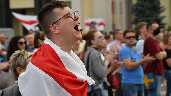 Protestující v Minsku - Sputnik Česká republika