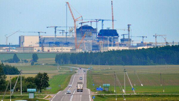 Stavba jaderné elektrárny v Bělorusku  - Sputnik Česká republika