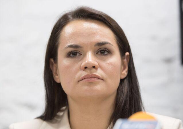 Bývalá kandidátka na prezidenta Běloruska Světlana Tichanovská