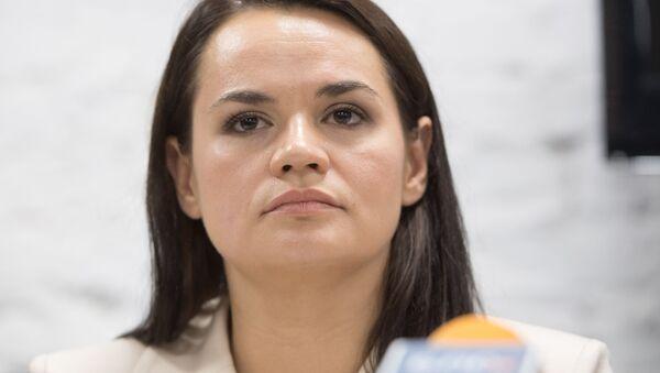 Bývalá kandidátka na prezidenta Běloruska Světlana Tichanovská - Sputnik Česká republika