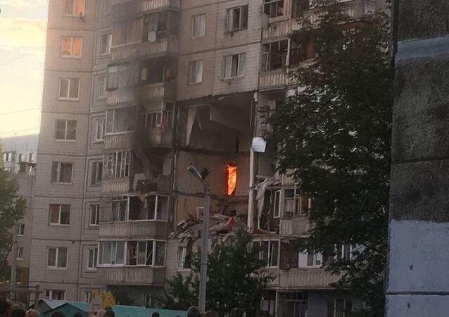 Výbuch plynu v domě v Jaroslavli