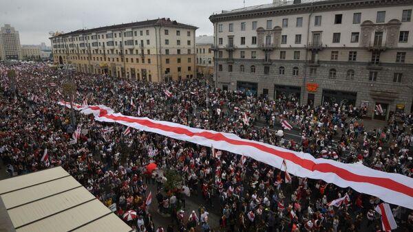 Protestní akce v Minsku (23. 8. 2020) - Sputnik Česká republika