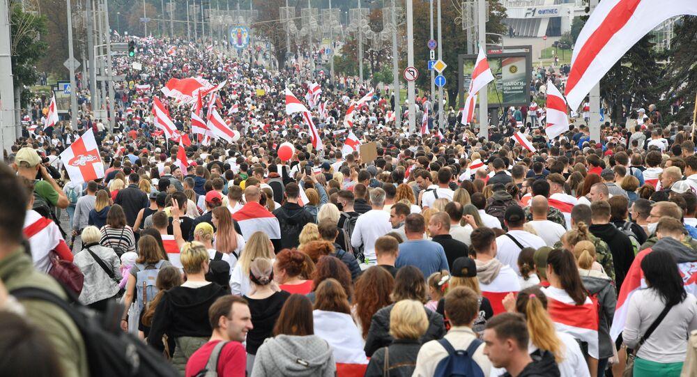 Protesty v Minsku proti Lukašenkovi (23. 08. 2020)