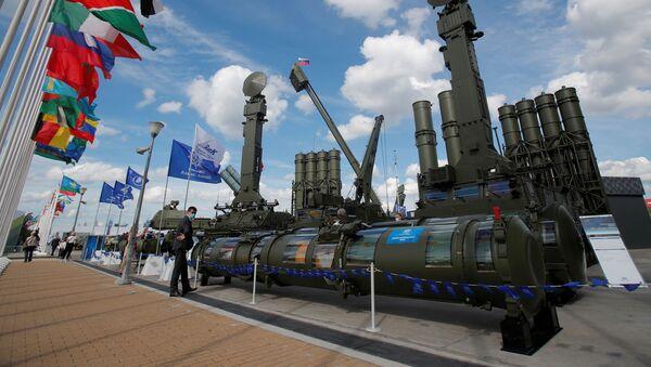 Raketový systém Antej 4000 na Mezinárodním vojensko-technickém fóru Armáda 2020 v parku Patriot - Sputnik Česká republika