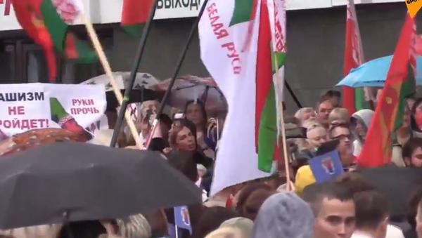 V Minsku probíhá akce na podporu prezidenta Lukašenka - Sputnik Česká republika