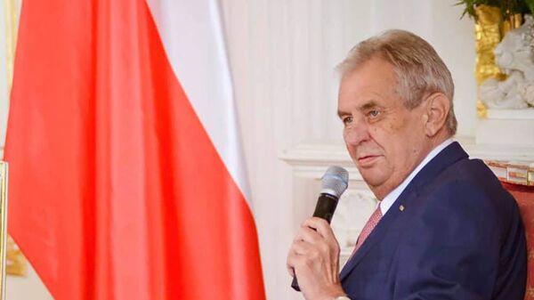 Prezident ČR Miloš Zeman - Sputnik Česká republika
