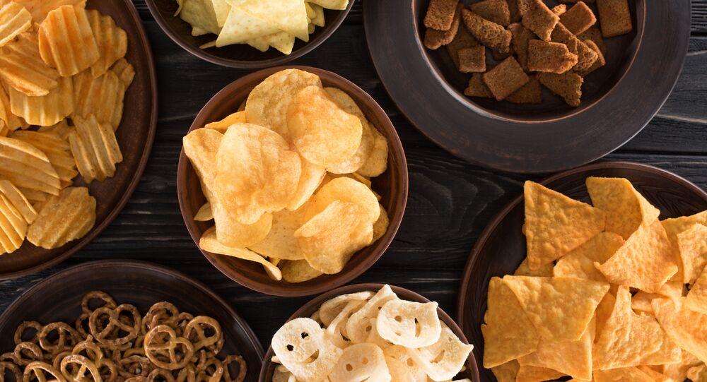 Různé druhy chipsů