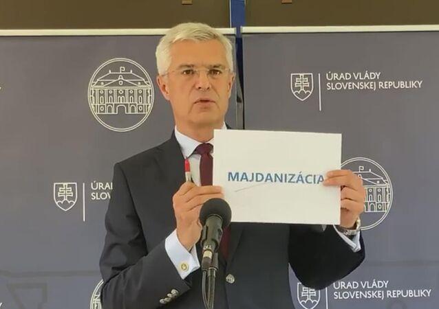 Slovenský ministr zahraničí Ivan Korčok