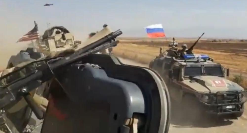 Video z incidentu s ruskými a americkými vojáky v Sýrii