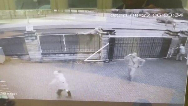 Záběr útoku na libyjskou ambasádu v Minsku - Sputnik Česká republika