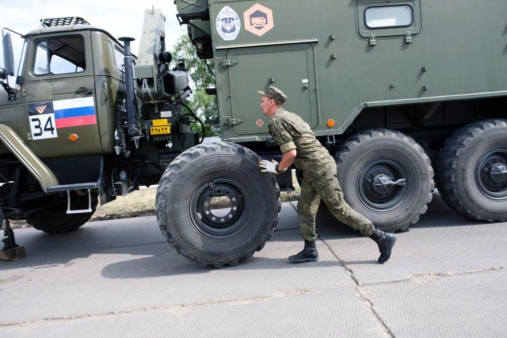 Ruští vojáci na hrách ARMY 2020
