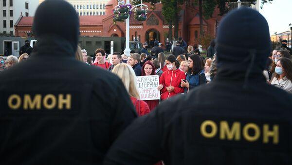 Protest v Minsku - Sputnik Česká republika