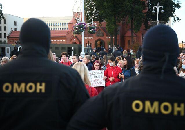 Protest v Minsku