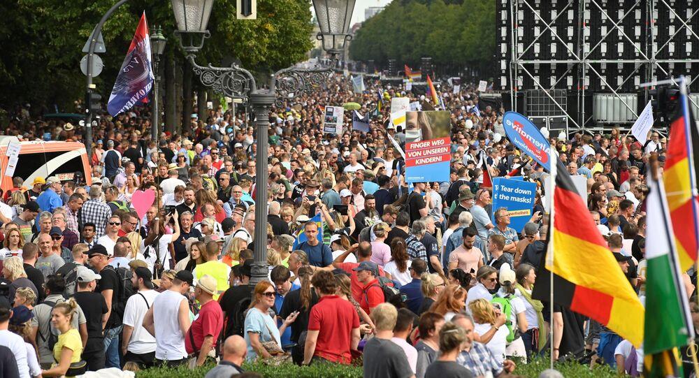 Protestní akce v Berlíně