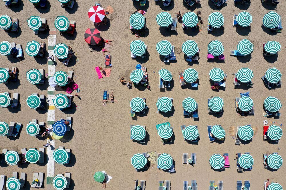 Pláž v Albánii