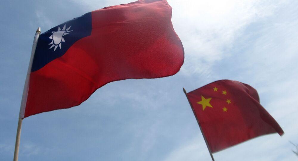 Vlajky Tchaj-wanu a Číny