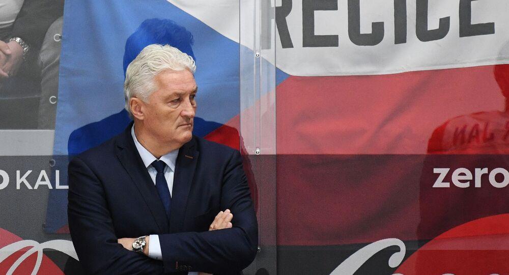 Miloš Říha na lavičce české hokejové reprezentace