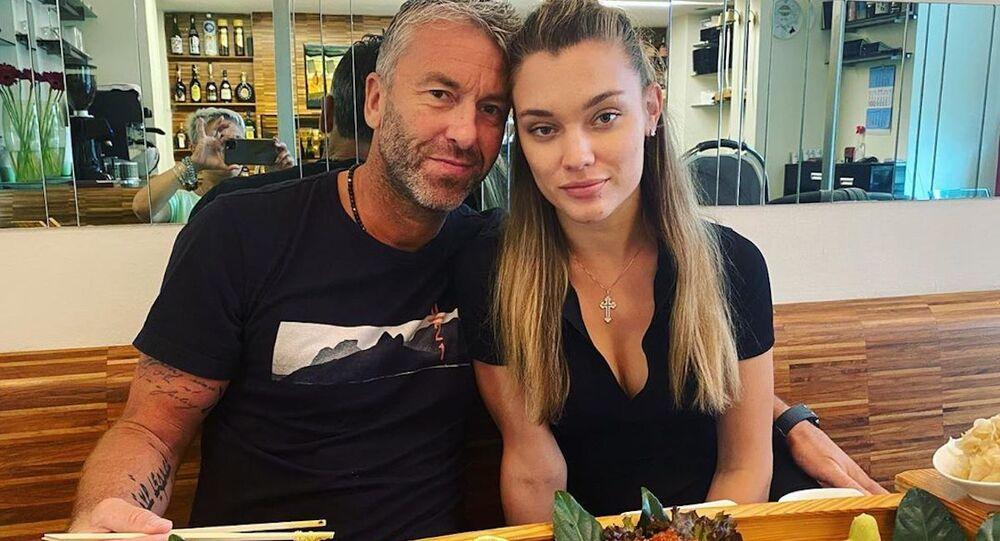 Petr Nedvěd s manželkou Nicole