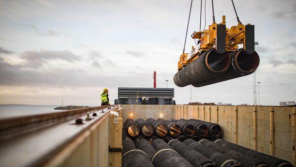 Stavba plynovodu Nord Stream 2 v Německu - Sputnik Česká republika