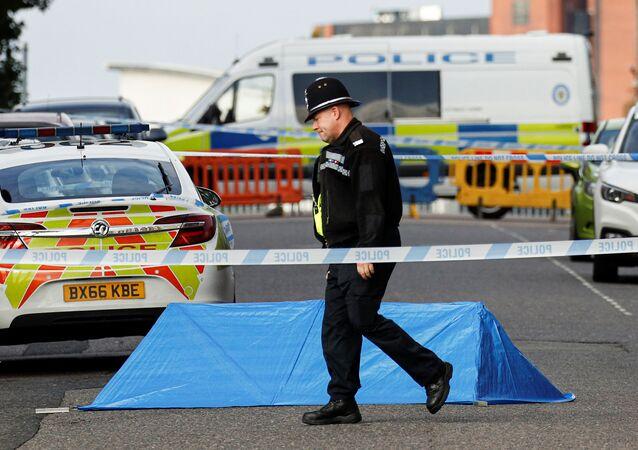 Policie na místě útoku v britském Birminghamu