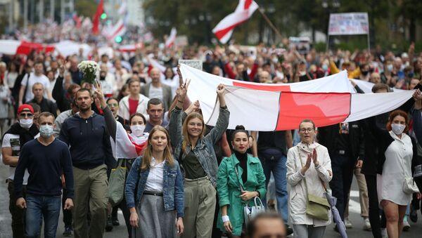 Protestní akce v Minsku. - Sputnik Česká republika