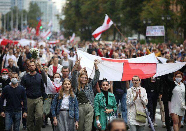 Protestní akce v Minsku