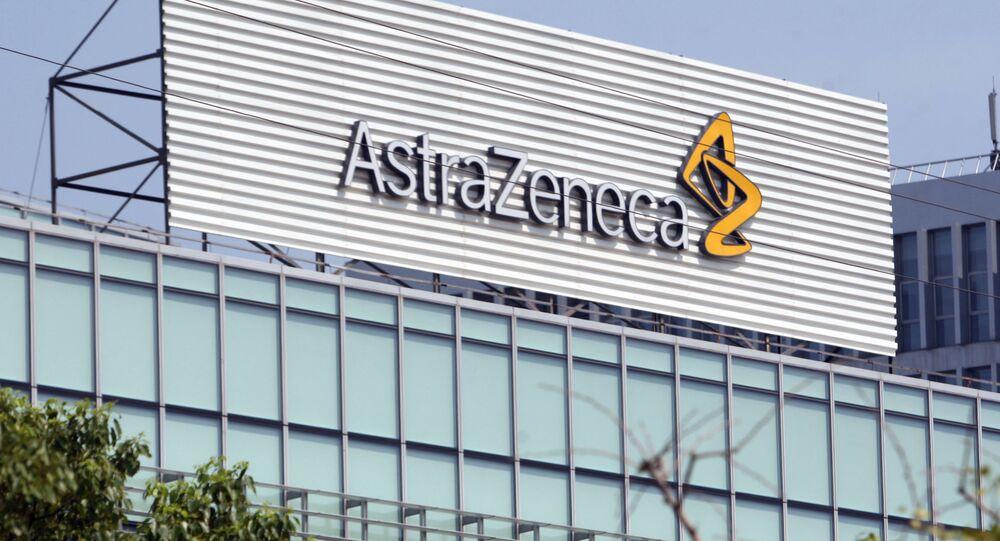 Logo firmy AstraZeneca