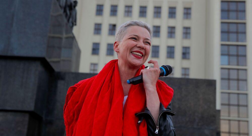 Členka běloruské opozice Maria Kolesniková