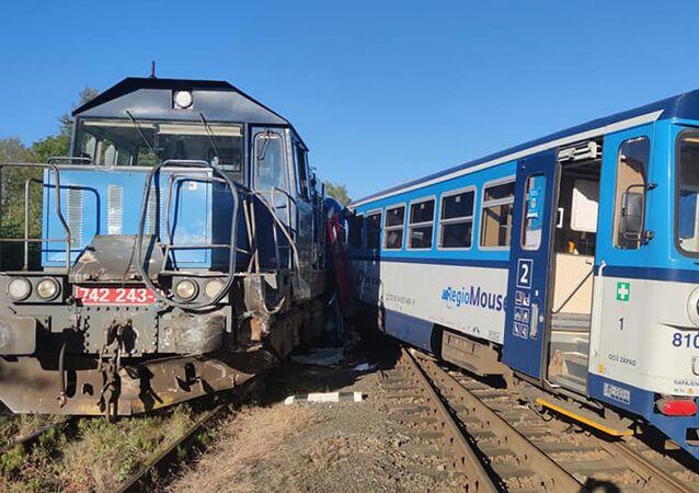 Střet vlaků ve Kdyni na Domažlicku