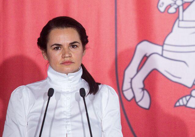 Bývalá kandidátka na úřad běloruského prezidenta Světlana Tichanovská v Polsku