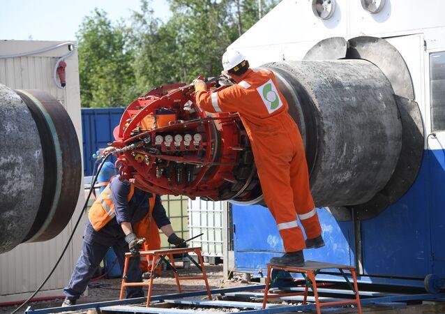 Stavba německo-ruského plynovodu Nord Stream 2