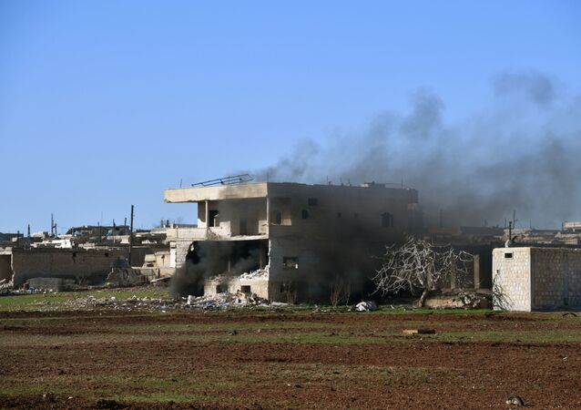 Zničený dům na jihovýchodě provincie Idlib