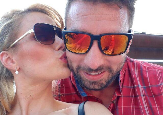 Gabriela Koukalová s Petrem Koukalem