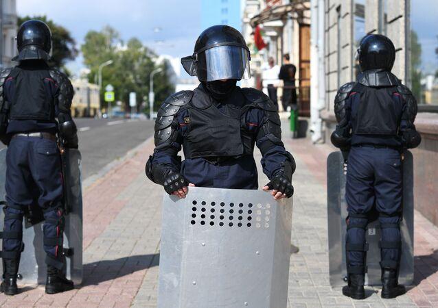 Bezpečnostní složky v Minsku (13.09.2020)