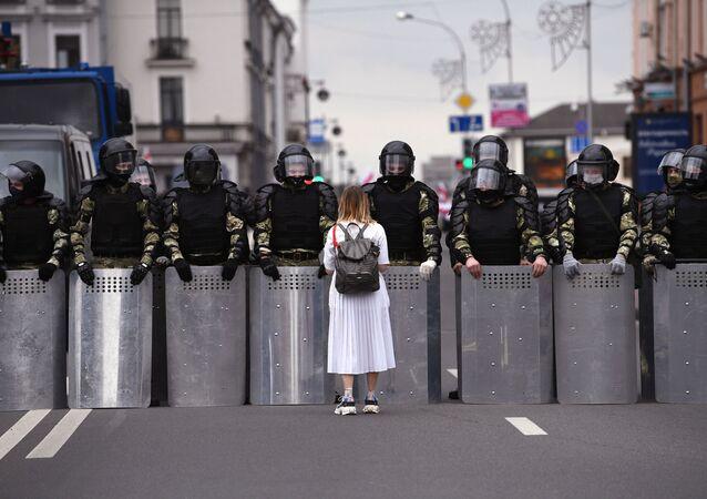 Opoziční protesty v Bělorusku