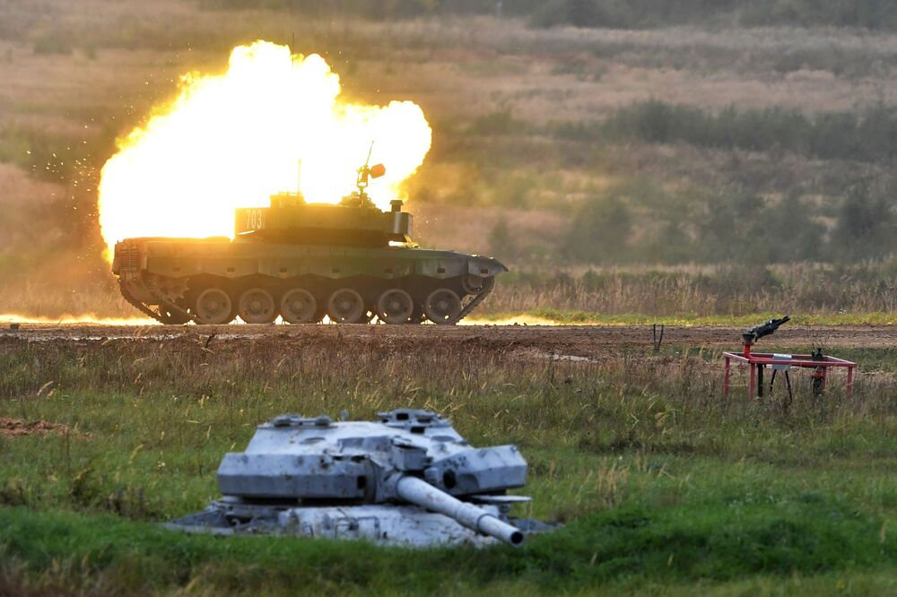 Tank Type 96 čínského vojenského týmu na Army-2020