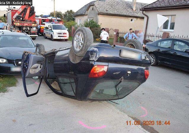 Dopravní nehoda v obci Sady nad Torysou v Košickém okrese